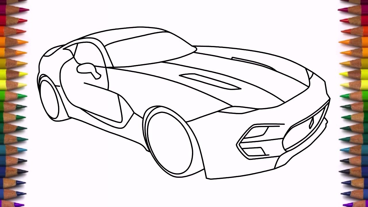 How To Draw Supercar Vlf Force Drawing Easy Step By Step Youtube