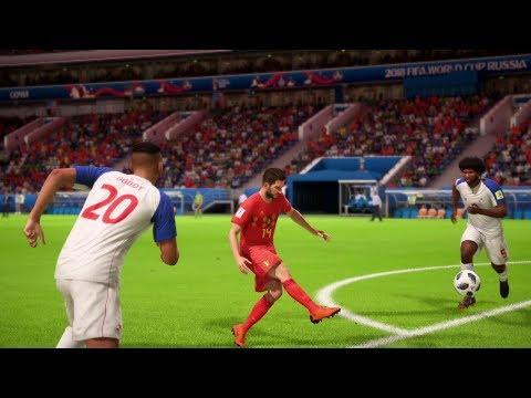 World Cup 2018 - Belgium vs Panama - Group G Full Match Sim (FIFA 18)