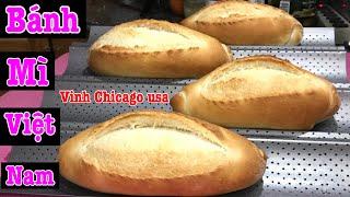 🥖bánh mì |cách làm bánh mì việt nam |chi cần ủ 15 phúc 2 lần |ben ngoài vàng giòn |bên trong xốp