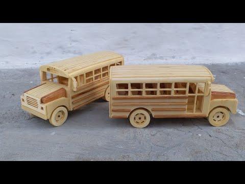 Ahşap Okul Otobüsü