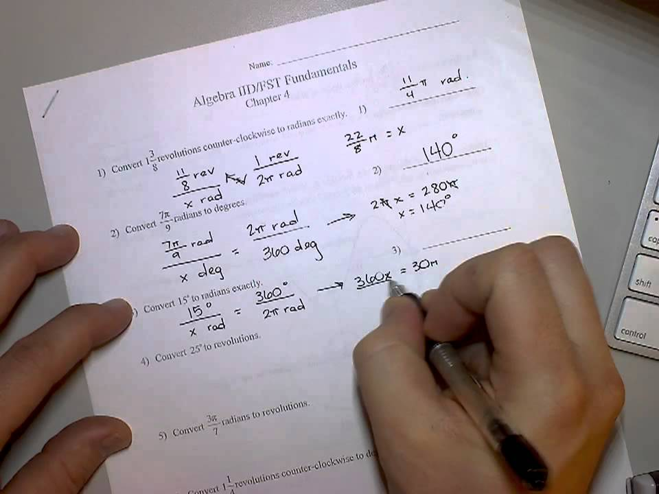 Algebra 2 Chapter 4 Exam Review Pg 1 Youtube