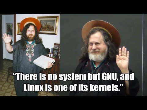 Richard Stallman as Saint IGNUcius (Emacs vs Vi)