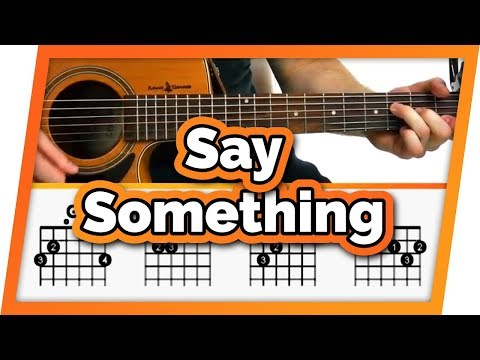 Say Something - A Great Big World ft. Christina Aguilera - Guitar Tutorial (Lesson) Easy Chords