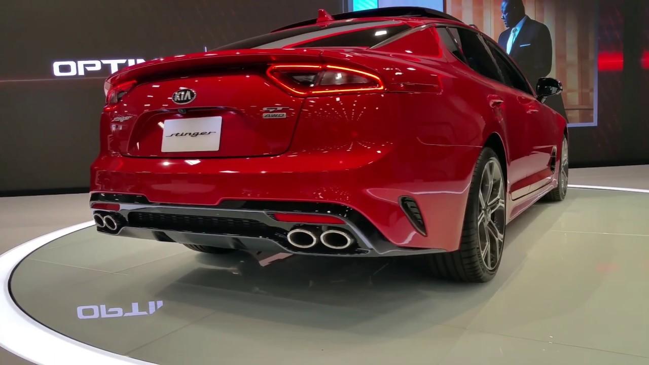 360 look kia stinger 2018 rwd sports sedan performance car under