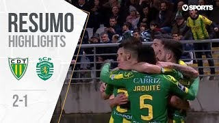 Highlights | Resumo: Tondela 2-1 Sporting (Liga 18/19 #16)