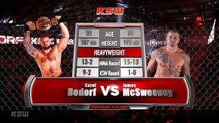 KSW Free Fight: Karol Bedorf vs. James McSweeney