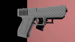 remodel glock-17 half-life (no texure)2
