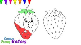 Strawberry Coloring Pages Easy Step For Kids Learn Colors