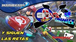 Y siguen las retas | Mario Kart 8 | GCMx vs Gamermex