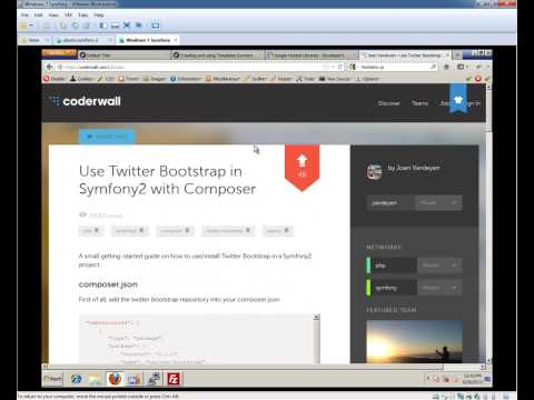 Symfony2.3 Beginners Tutorial - Part 4 - Twitter Bootstrap & Symfony 2 (1080p)