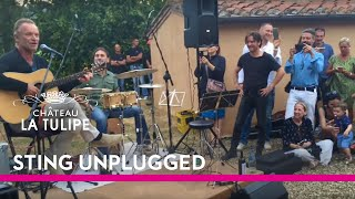 Sting unplugged at Il Palagio