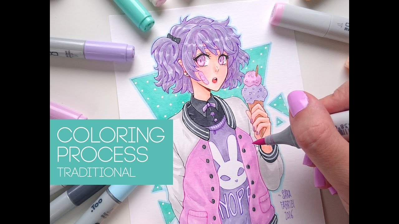 ☆ [AGATHA] - Copic Coloring - YouTube