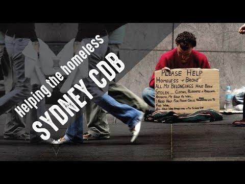 GIVE - Feeding the Homeless in Sydney CBD Australia
