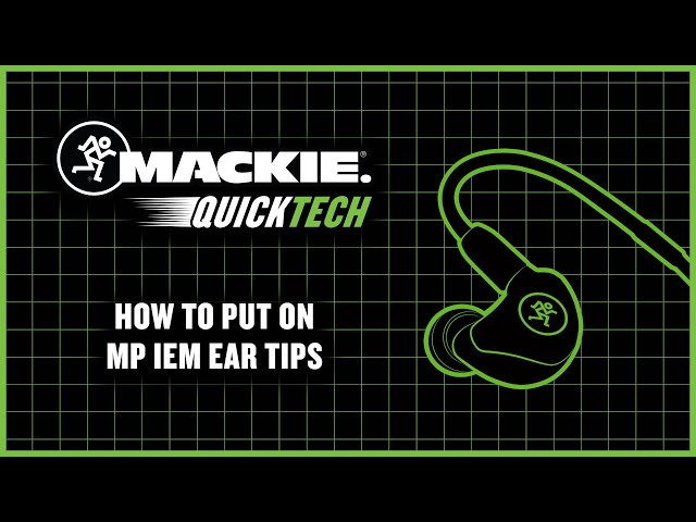 How To Put On MP IEM Ear Tips
