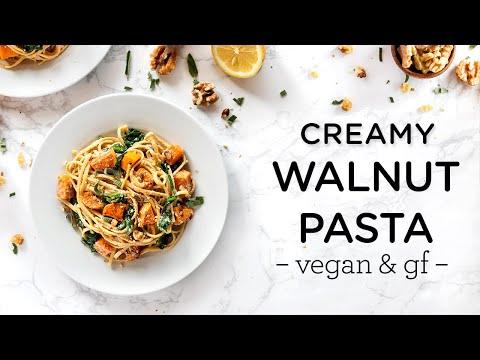 CREAMY WALNUT PASTA ‣‣ vegan & gluten-free