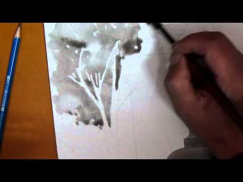 Hướng dẫn vẽ cây mực nho _clip2