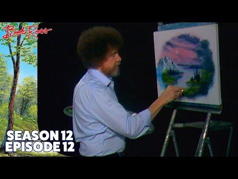 Bob Ross - Mountain in an Oval (Season 12 Episode 12)