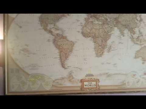 Как повесить географическую карту на стену? - YouTube