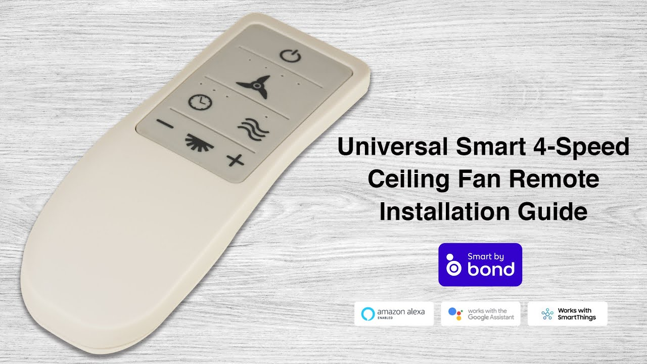 How to Install the Universal Smart 4-speed Ceiling Fan Remote