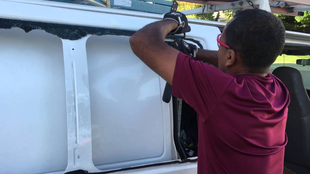 Removing The Glass Window From A Chevy Express Van