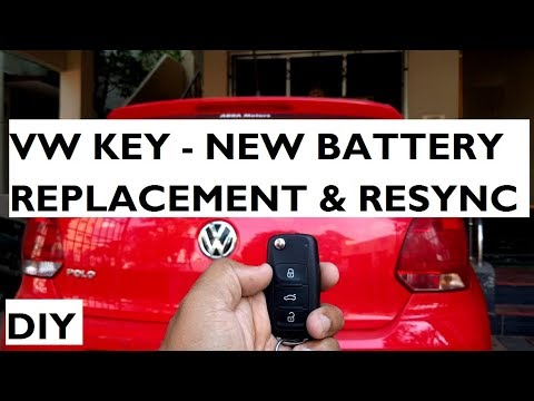 Volkswagen Key Battery Replacement & Re-Synchronisation : DIY