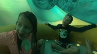 Going down water slides at Great Wolf Lodge
