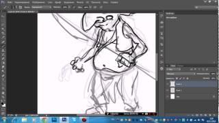 Видео урок рисование персонажа в photoshop cs6 вектор 1 часть