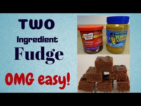 Two Ingredient Chocolate Peanut Butter Fudge
