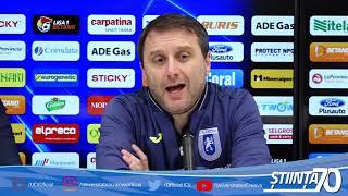 Conferință de presă de la finalul meciului cu Gaz Metan Mediaș