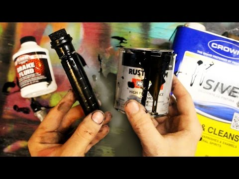 How To Make Graffiti Paint And Homemade Mop Tutorial