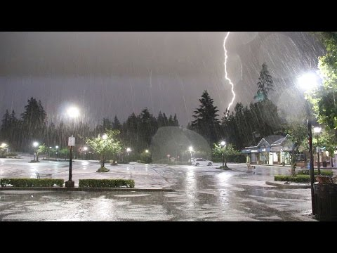 West Van Storm Brings Lightning Show & Flash Flood