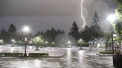 West Van Storm Brings Lightning Show & Flash Flood