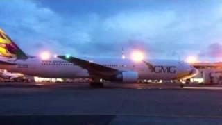 GMG Airlines 3rd Boeing 767-300ER S2-AFX.mov