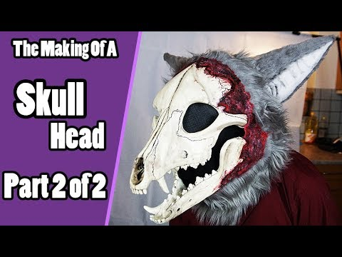 //The Making Of A Skull Head #2// Furring & Details - Skull Demon Fursuit  Tutorial