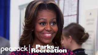 Leslie Meets Michelle Obama - Parks and Recreation