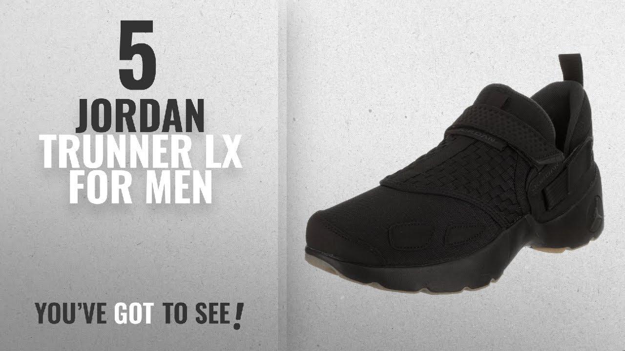 b9a995ead563d Top 10 Jordan Trunner Lx [2018 ]: Jordan Nike Men's Trunner LX  Black/Anthracite/Gum/Yellow Training