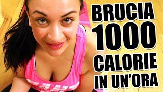 Allenamento completo per dimagrire e tonificare i muscoli e bruciare 1000 calorie in un'ora a casa