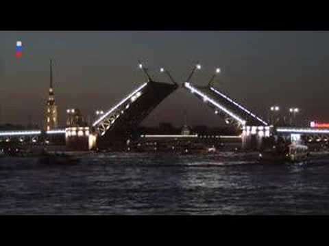 The Opening of The Palace Bridge in St.Petersburg