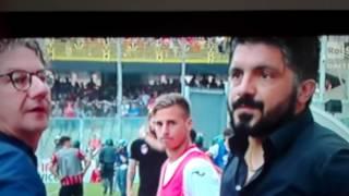 Foggia Pisa Gattuso vs de zerbi scontri in campo