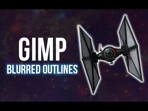 GIMP: Blurred Outlines