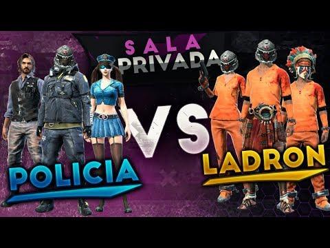 🔴SALAS PRIVADAS POLICIAS VS LADRONES | SUDAMERICA DIRECTO FREE FIRE