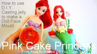 How to Use D.I.Y. Casting Jelly to Make a Doll Face Mould for Your Cake Figurines - Ariel Meraid
