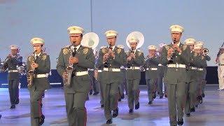 2017年11月18日に日本武道館で行われた自衛隊音楽まつりで陸上自衛隊中...