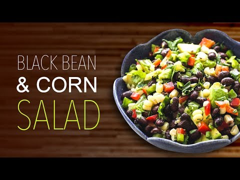 High Protein Black Bean Salad for weight loss | Soda fountain VLOG