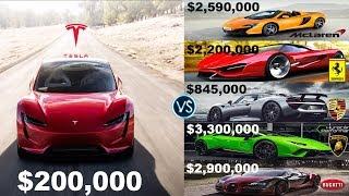 Tesla Roadster Decides Ferrari
