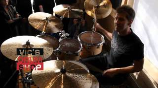 Chad Wackerman at Vics Drum Shop.m4v