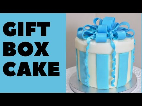 Gift box cake youtube gift box cake negle Image collections