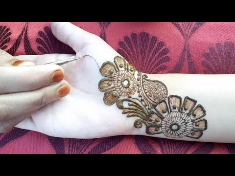 Easy Arabic mehndi designs for front hands || Simple Henna designs 2018 ||मेहँदी डिजाईन
