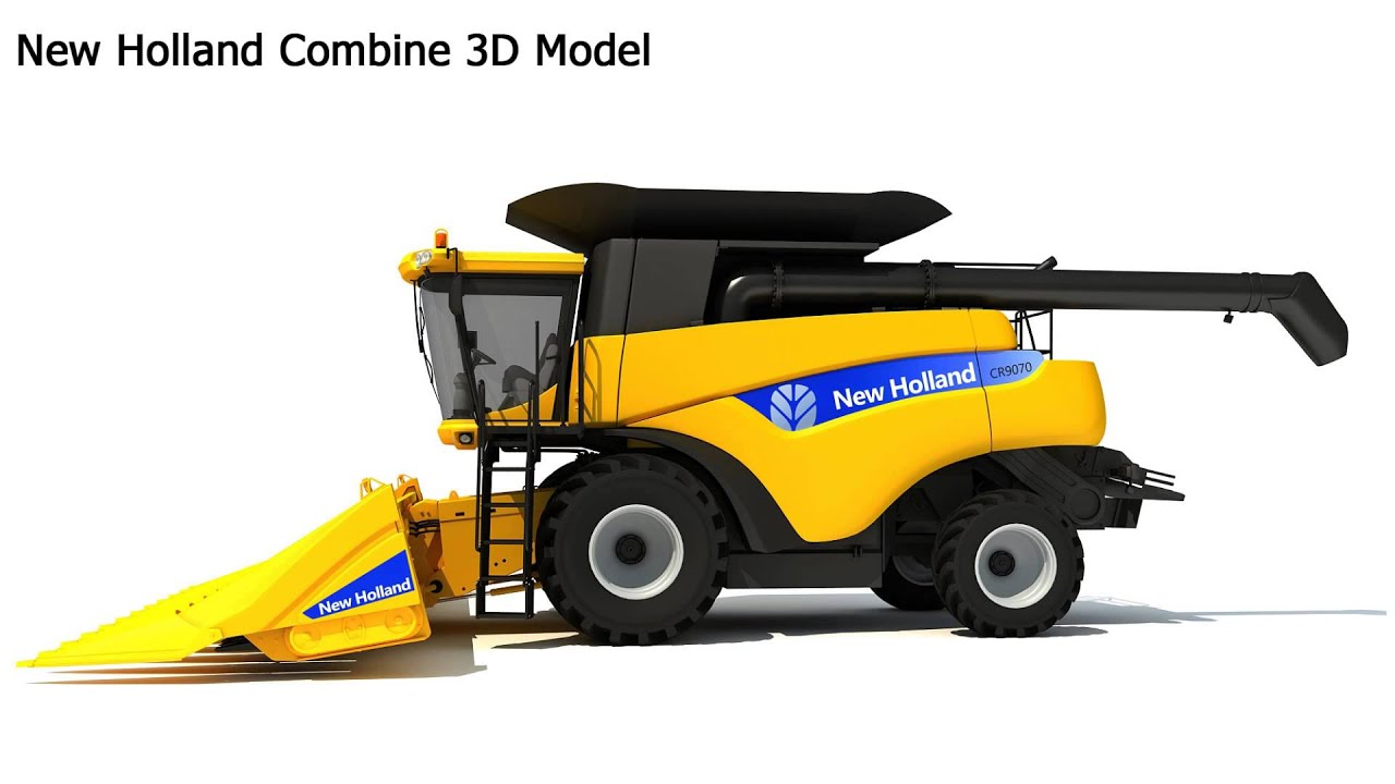 new holland combine 3d model youtube. Black Bedroom Furniture Sets. Home Design Ideas