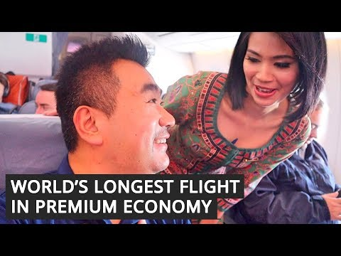 The LONGEST FLIGHT in the World in Premium  ECONOMY with Singapore Airlines